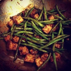 Szechuan green beans w/ tofu