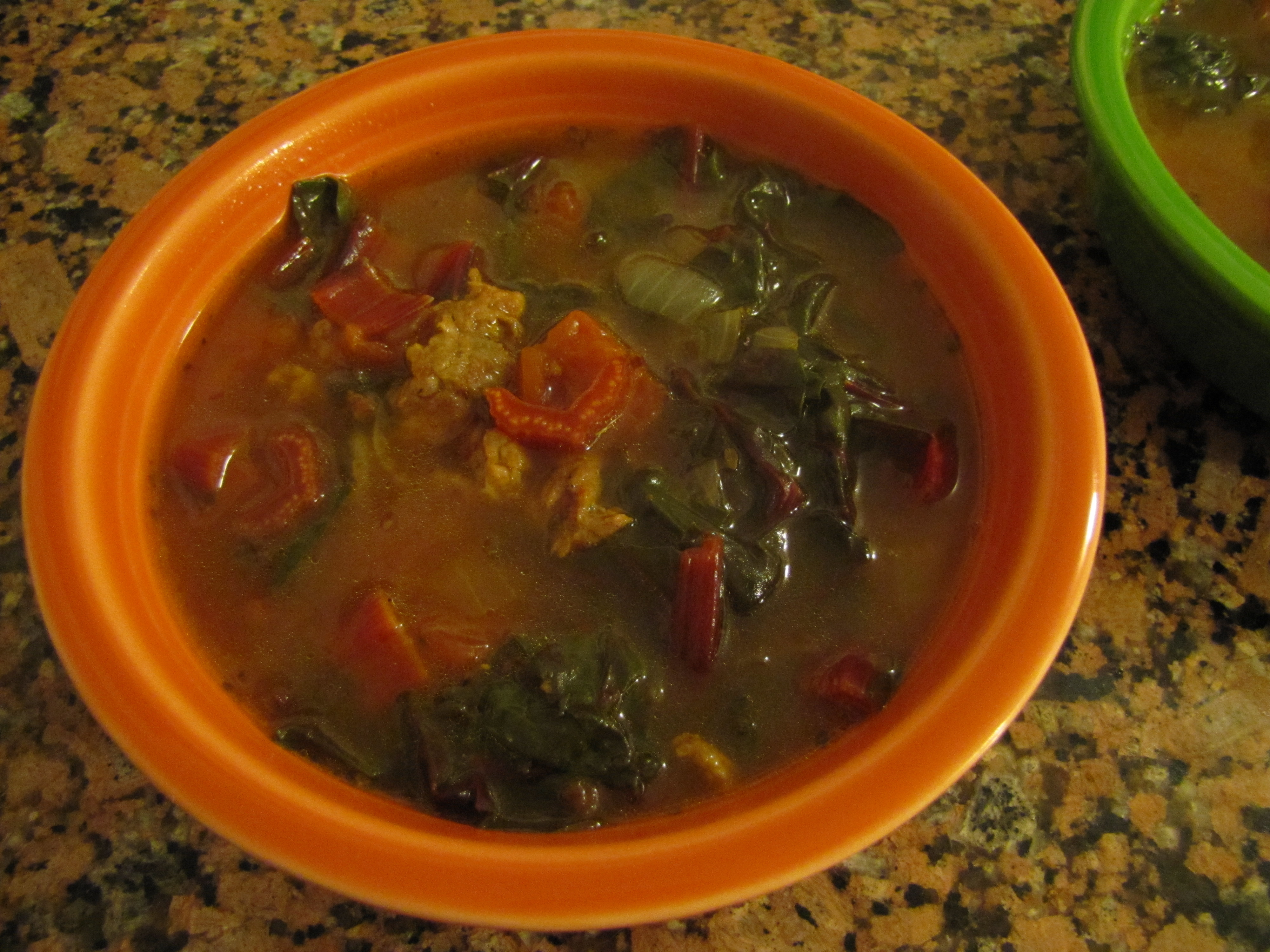 how to cook rainbow chard in soup