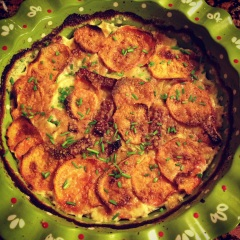 sweet potato & turnip gratin
