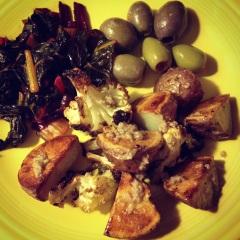 roast veggies with anchoiade