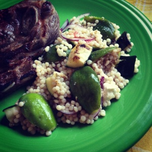 couscous salad with zucchini & figs