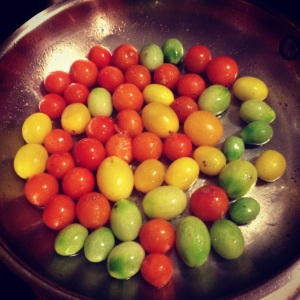 ripe cherry tomatoes for sauce