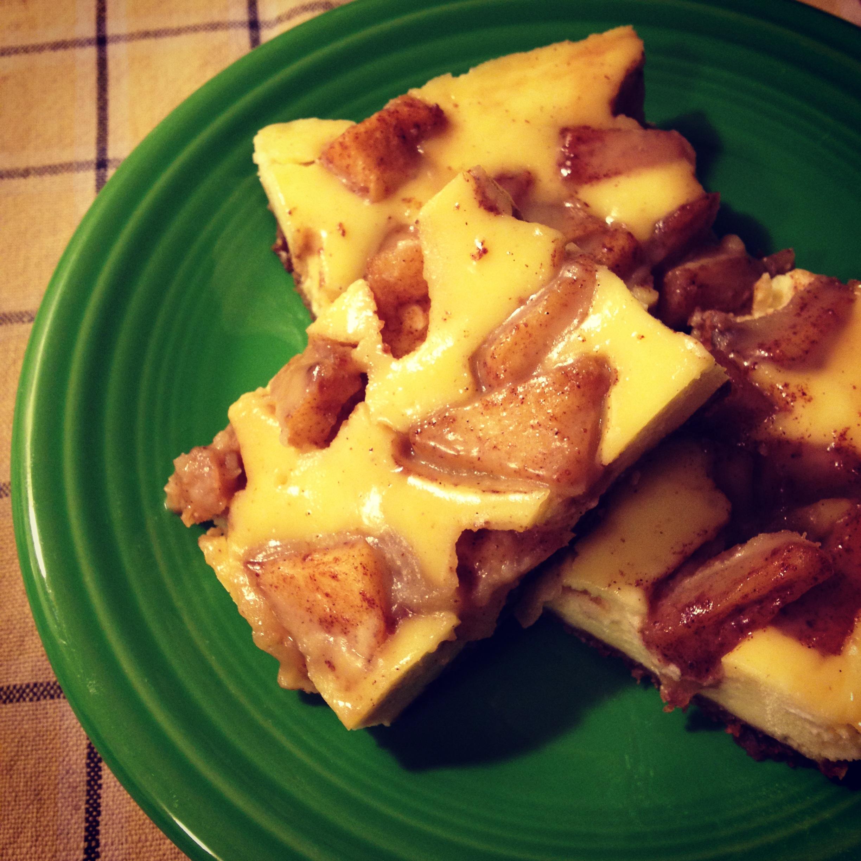 Caramel Apple Cheesecake Bars (makes 16-20 bars)