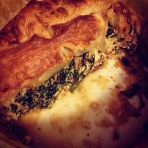 the inside: spinach and feta goodness