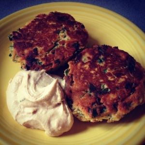 chickpea patties with tahini sauce