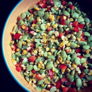succotash salad with tarragon