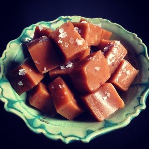 salted licorice caramels!
