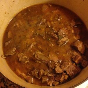 braised pork sugo, before blending
