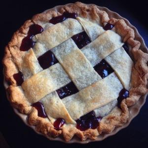 sour cherry rhubarb pie