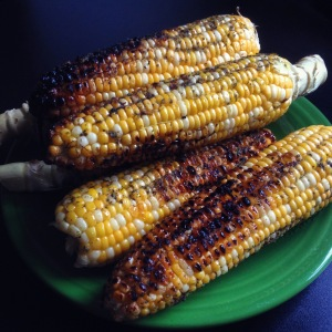 grilled corn basted with chimichurri