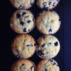 Mom's perfect blueberry muffins