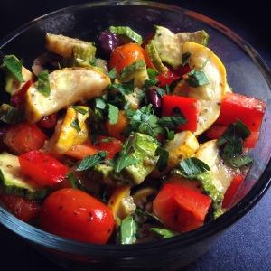 roasted Mediterranean vegetable salad