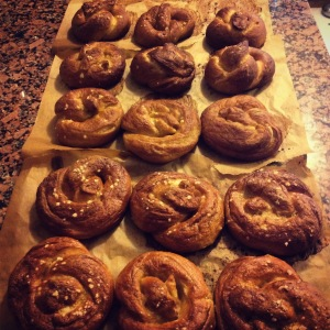 baked soft pretzels!
