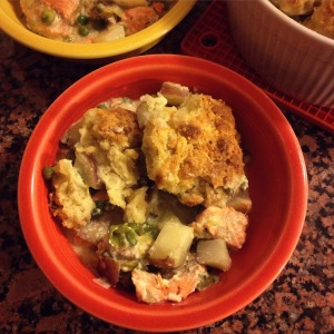 biscuit-topped salmon pot pie