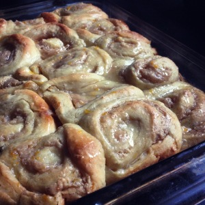 Meyer lemon breakfast rolls