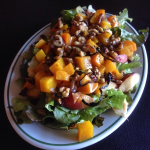 golden summer salad with beets & nectarines