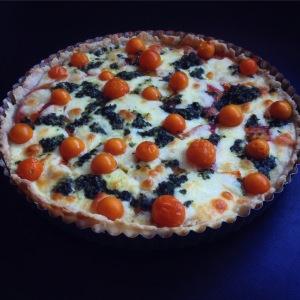late summer tomato tart